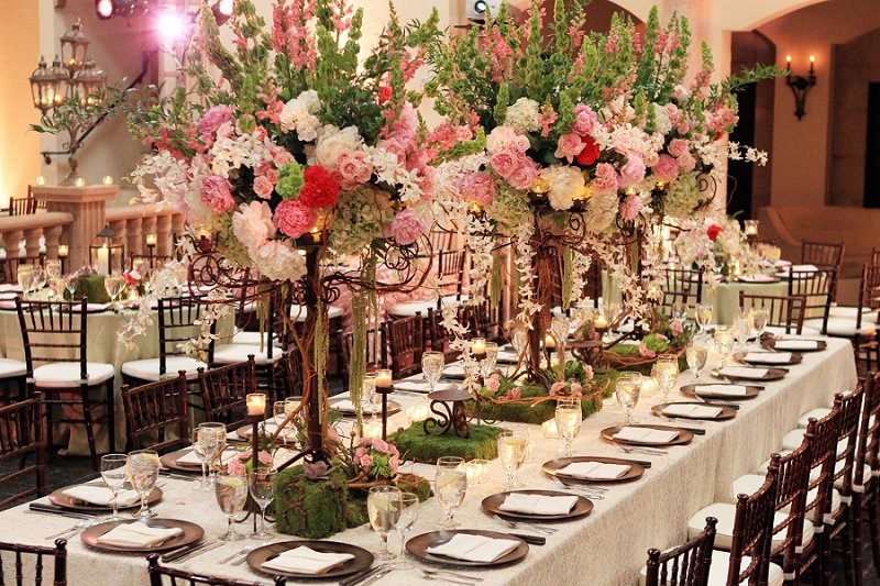 Elegant enchanted garden pink and green wedding every for Enchanted gardens wedding venue
