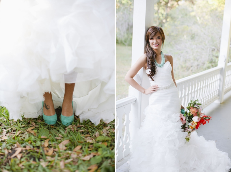 Aqua, Black, and White Wedding Inspiration via TheELD.com