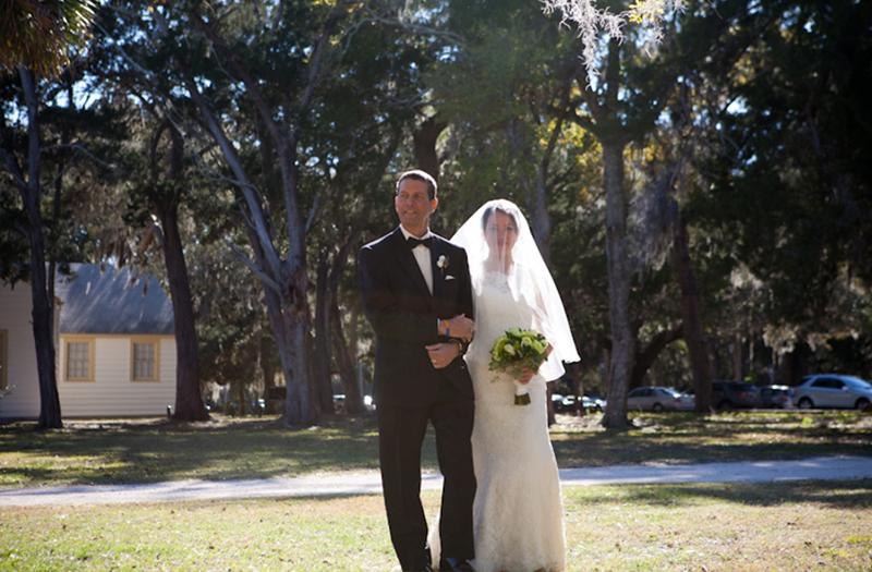 Classic Blue and Yellow Florida Wedding via TheELD.com