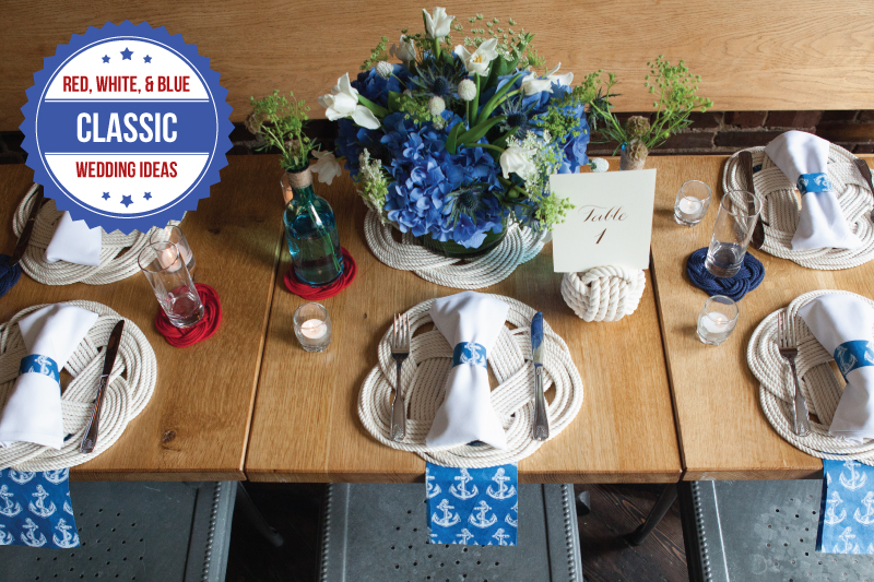 Red White And Blue Wedding Ideas Via TheELD