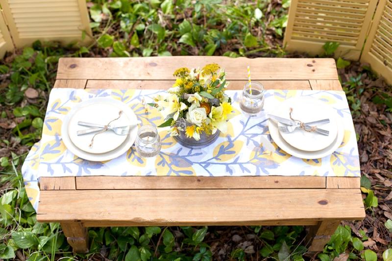 Yellow Wedding Ideas {Rustic} via TheELD.com