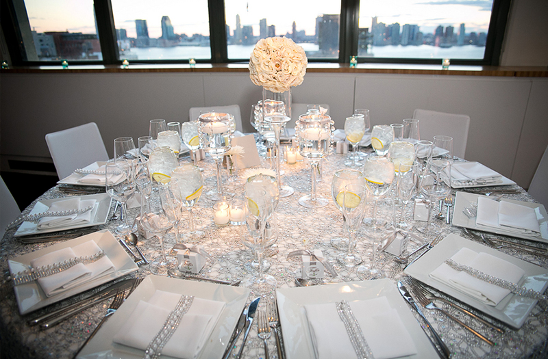 Glamorous White And Silver New York Wedding Via TheELD