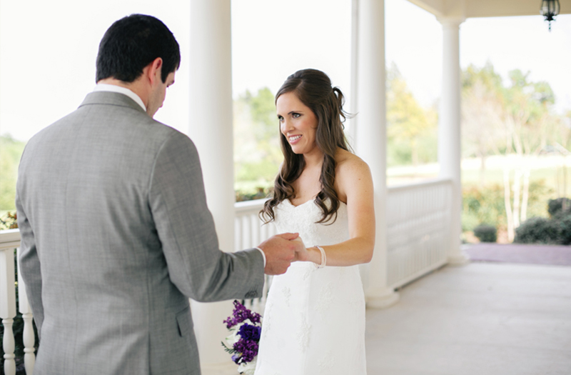 A Classic Southern Purple and Gray Texas Wedding via TheELD.com