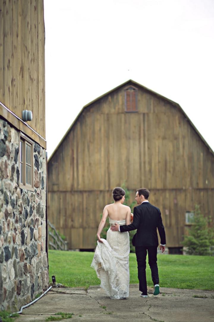 Colorful & Unique Rustic Michigan Wedding via TheELD.com