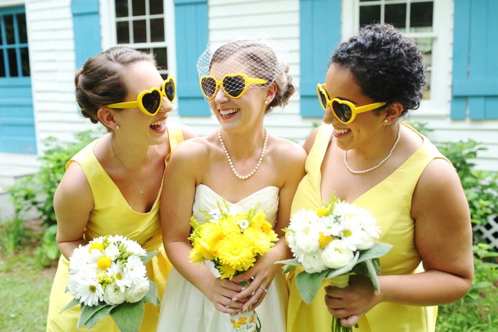 Fun and Bright Yellow and Gray Wedding via TheELD.com