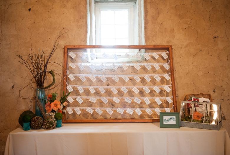 A Fun Rustic Coral and Aqua Wedding via TheELD.com