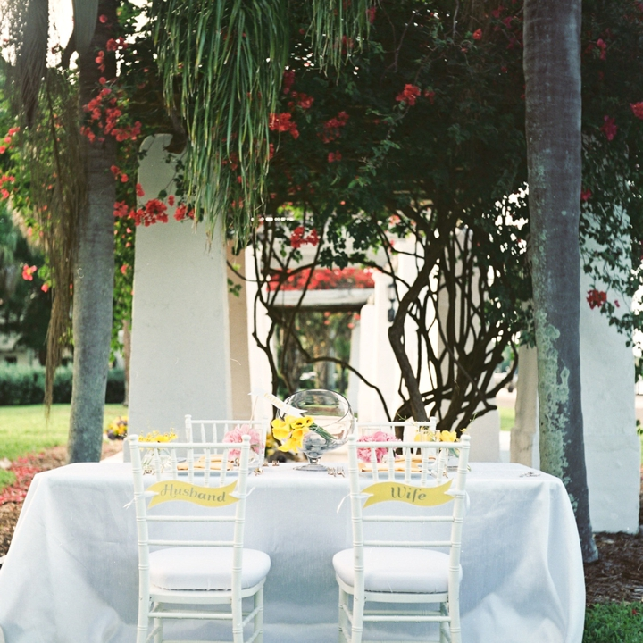 Modern Pink and Yellow Wedding Ideas via TheELD.com