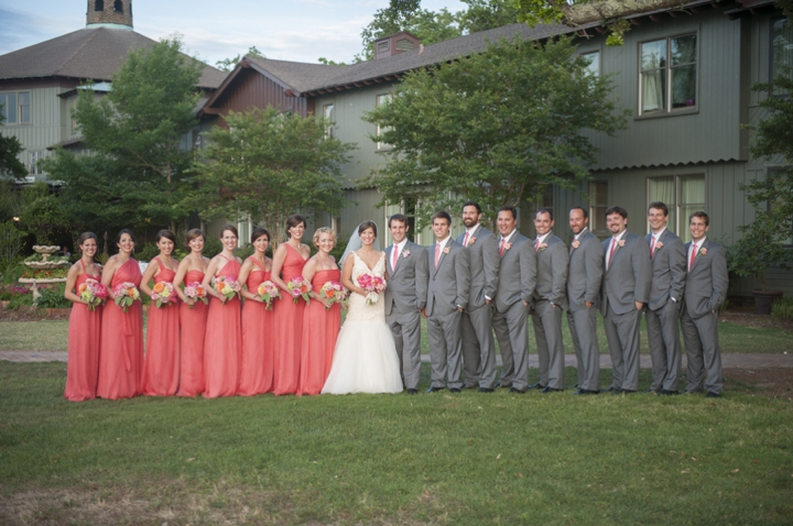 A Southern Elegant Coral And Pink Wedding Via TheELD