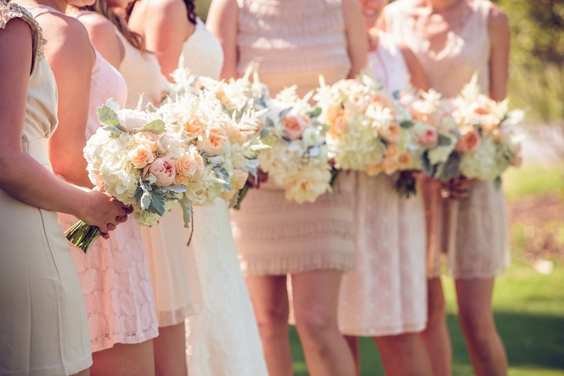 Rustic & Romantic Burlap & Peach Wedding via TheELD.com