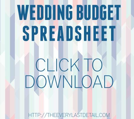 Wedding Budget via TheELD.com
