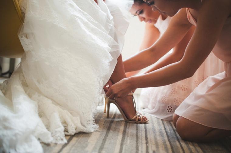 Blush & Vintage Travel Themed Wedding via TheELD.com
