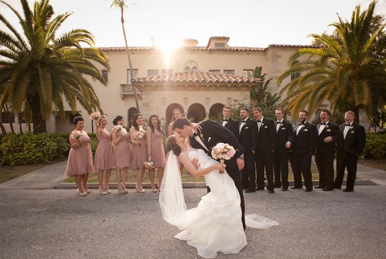 A Classic Romantic Blush and White Wedding via TheELD.com