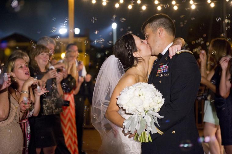 A Romantic Florida Navy and Pink Wedding via TheELD.com