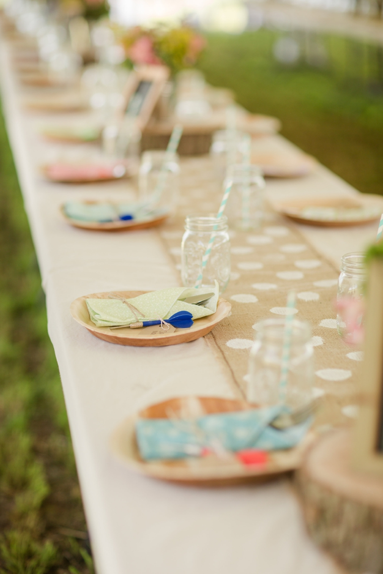 Rustic & Eclectic Backyard Maryland Wedding  via TheELD.com