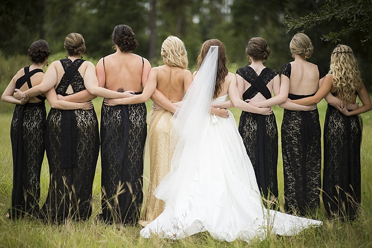 Modern Elegant White, Black And Gold Wedding