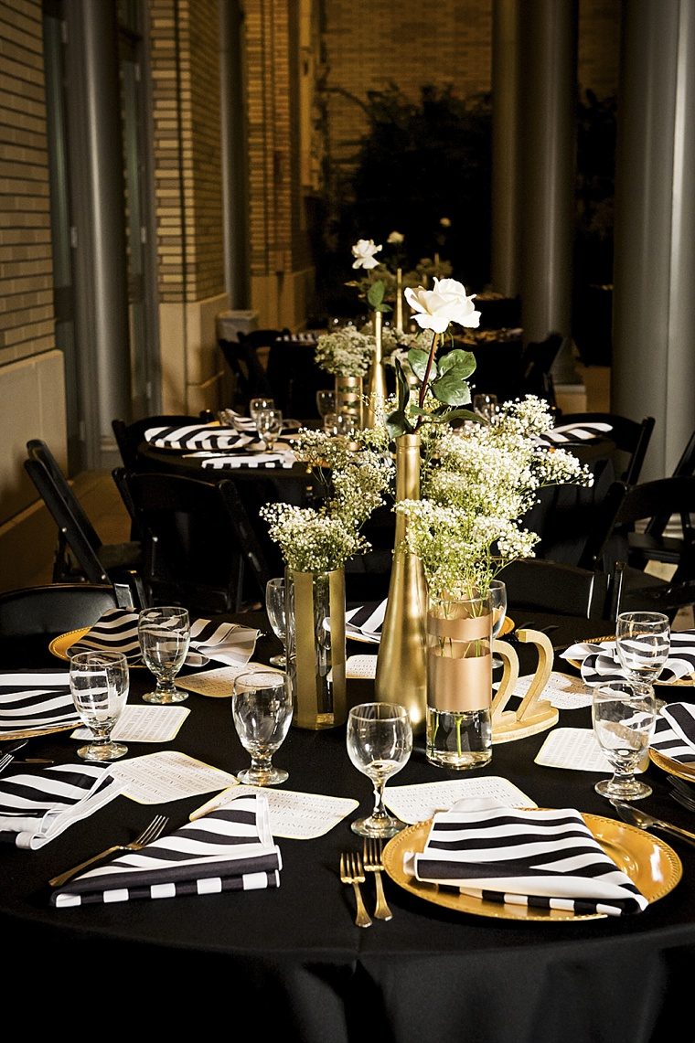 Modern Elegant White Black And Gold Wedding Every Last
