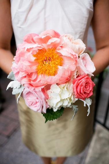 Romantic Pink Vintage Chic Wedding via TheELD.com