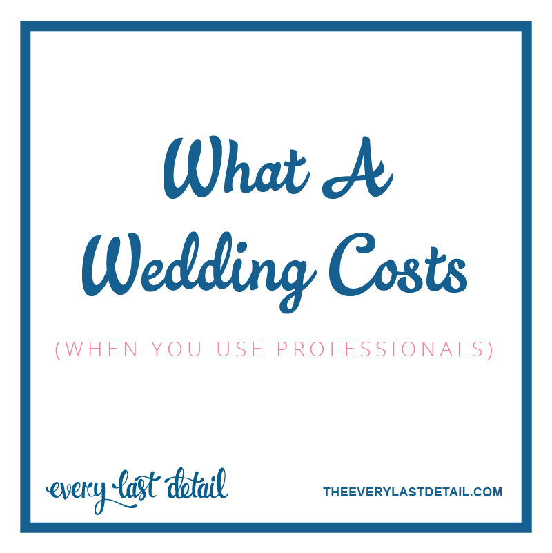What A Wedding Costs (When You Use Professionals) via TheELD.com