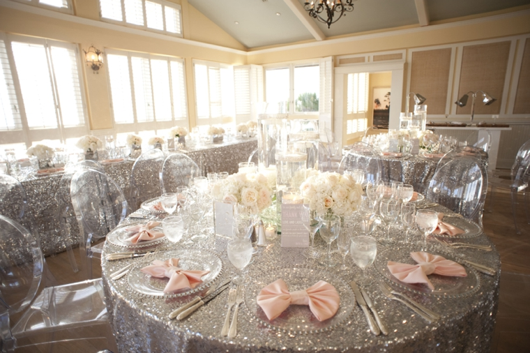 A Glamorous Silver Amp Blush Beach Wedding Every Last Detail