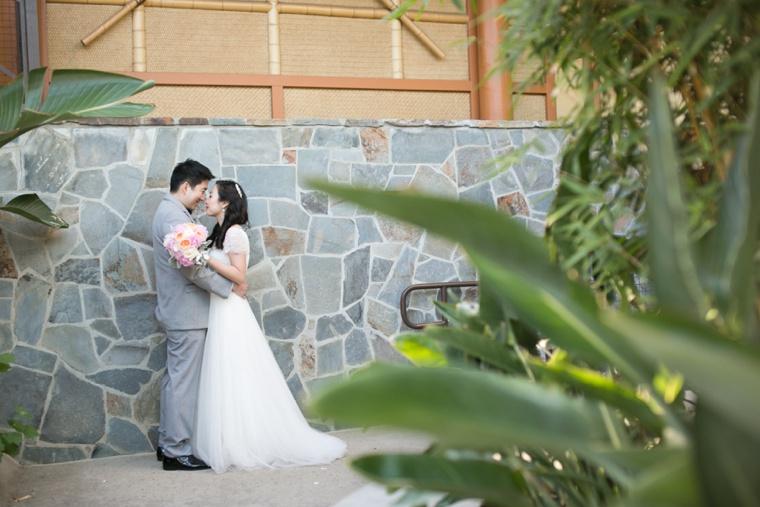 Aqua, Pink & Gold Disneyland Wedding  via TheELD.com