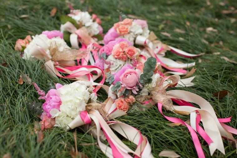 Vintage Romantic Blush and Gold Wedding via TheELD.com