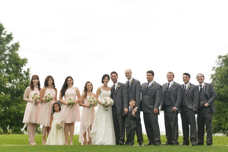 Classic Pink and White Romantic Wedding  via TheELD.com