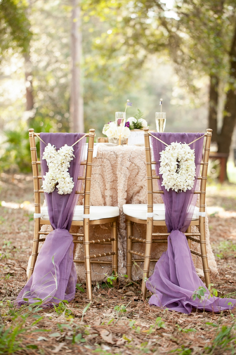 Rustic Chic Champagne And Purple Wedding Inspiration Every Last Detail