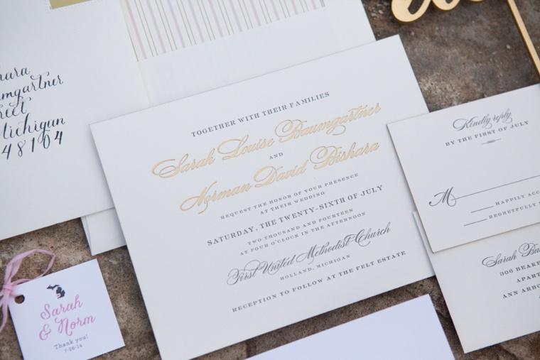 An Elegant Blush and Gold Wedding via TheELD.com