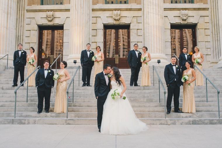 A Black & Gold 1920s Inspired Wedding via TheELD.com