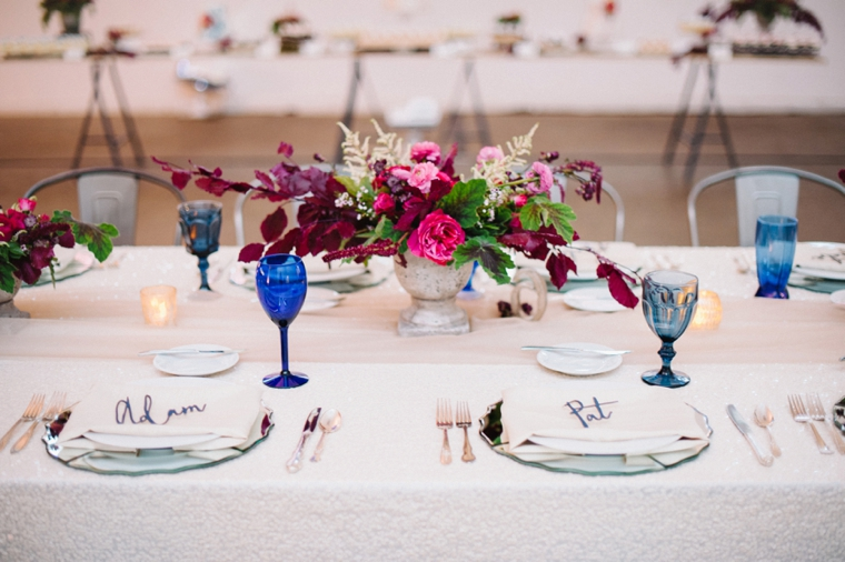 Modern & Romantic Marsala Wedding Ideas via TheELD.com