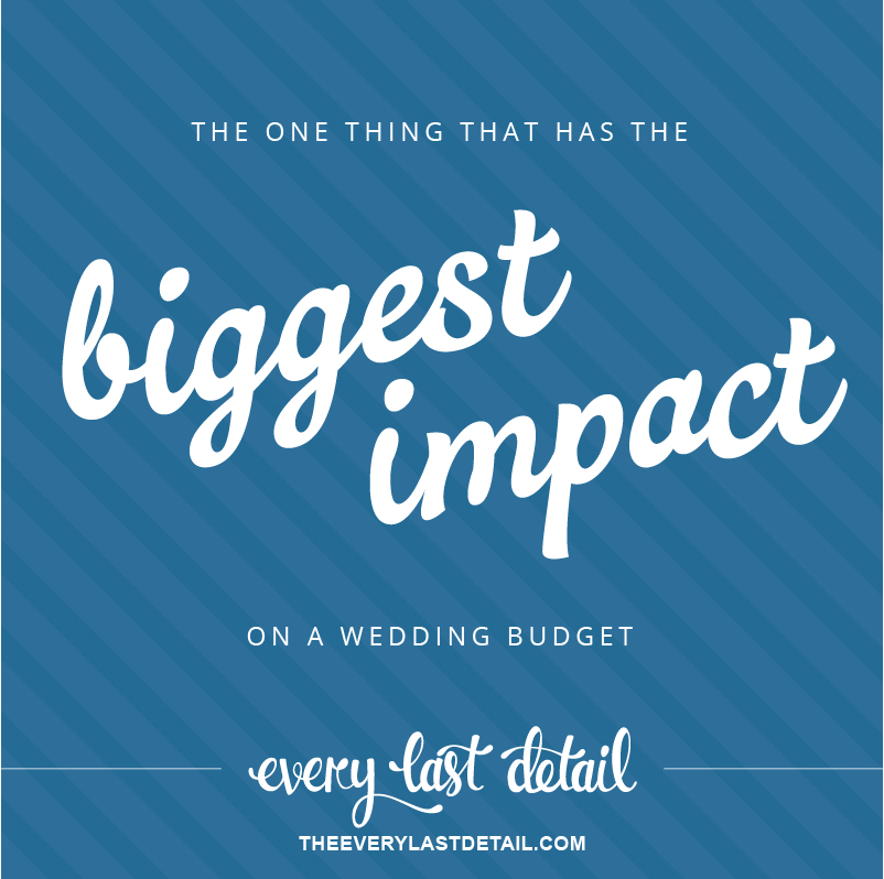 The 1 Thing That Has The Biggest Impact On a Wedding Budget via TheELD.com