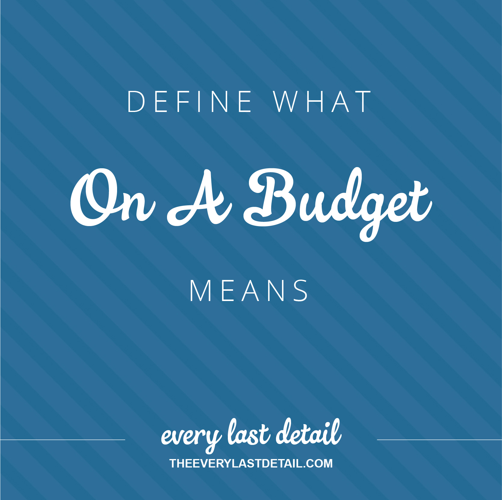Define What On A Budget Means via TheELD.com