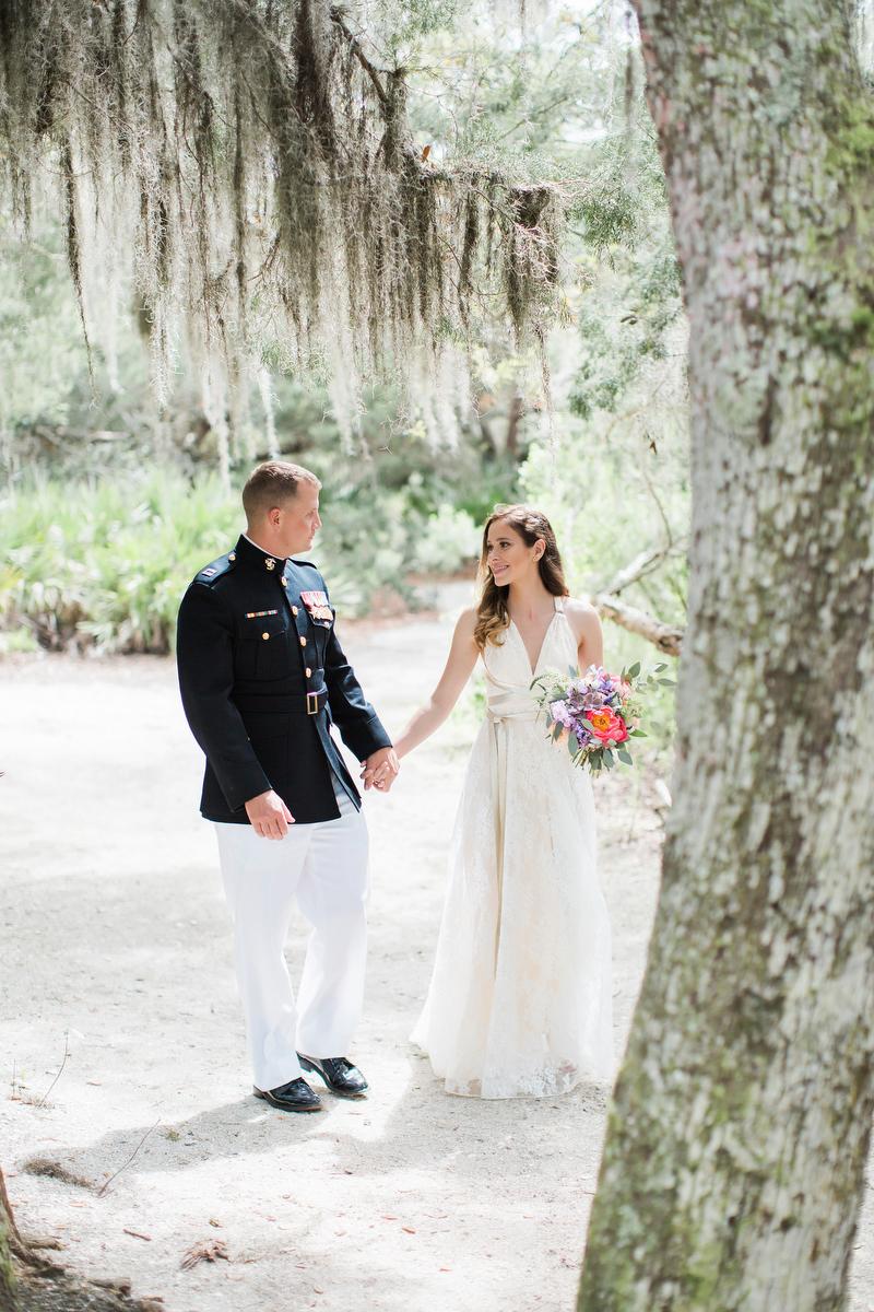 Colorful Rustic Boho Amelia Island Wedding via TheELD.com