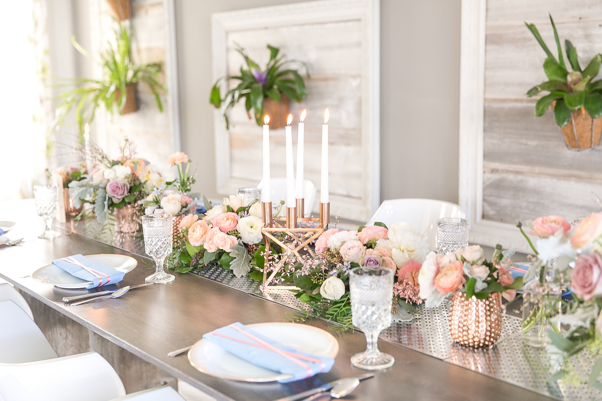 Modern Blush Blue Amp Rose Gold Wedding Inspiration Every