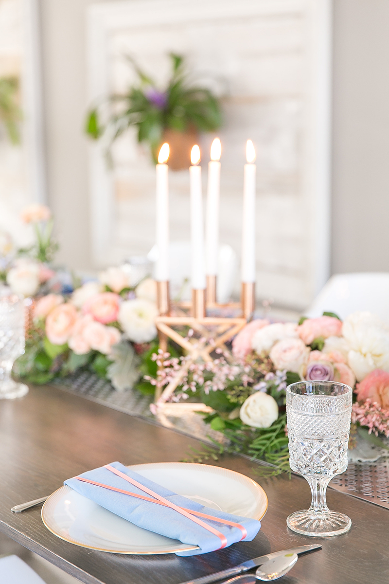 Modern Blush Blue Amp Rose Gold Wedding Inspiration Every