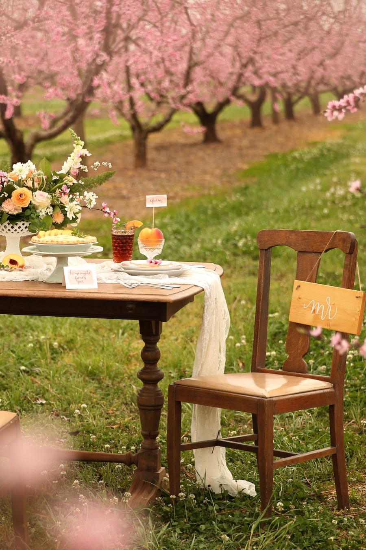 Peach Inspired Southern Wedding Ideas via TheELD.com