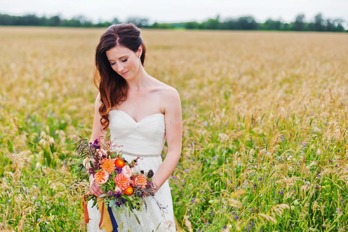 A Colorful Rustic Farm Wedding via TheELD.com