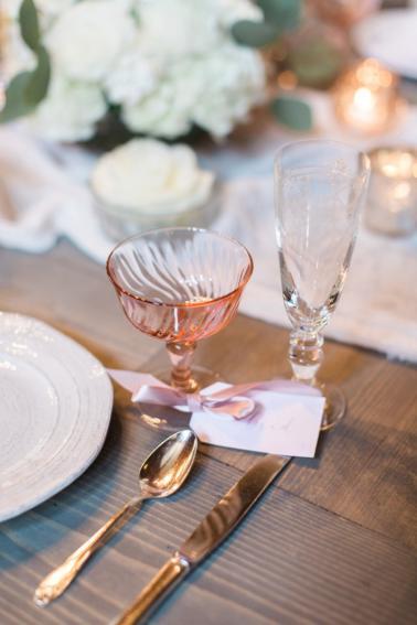 Romantic Blush and Rose Wedding Inspiration via TheELD.com