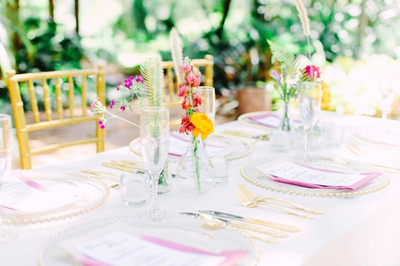 Colorful Secret Garden Inspired Wedding Ideas via TheELD.com