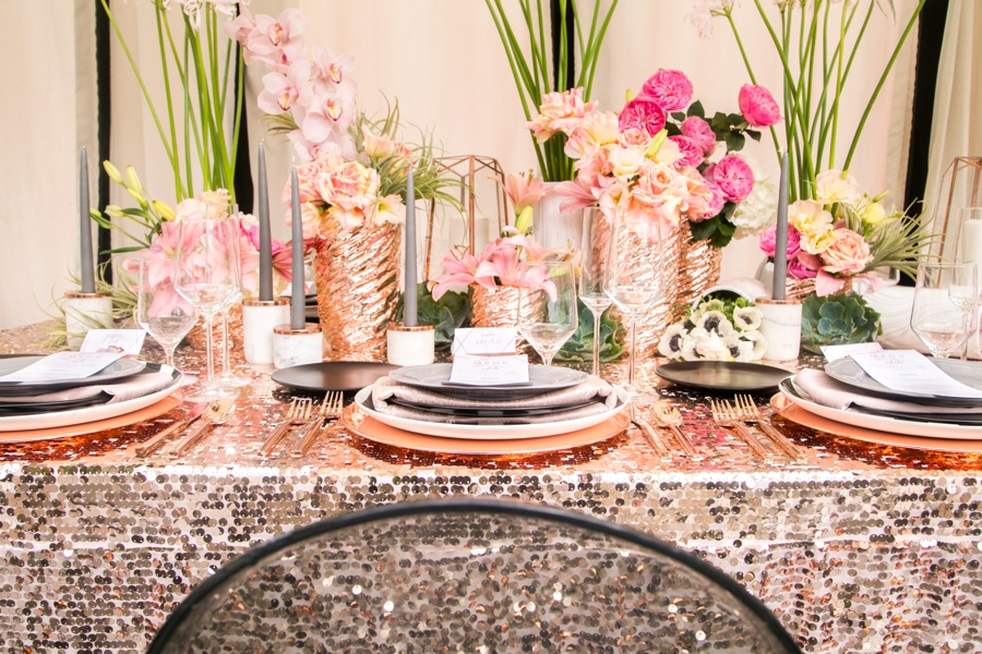 Black Gold Wedding Decorations