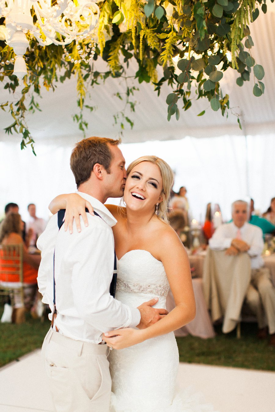 Elegant Blush & White Beach Wedding via TheELD.com
