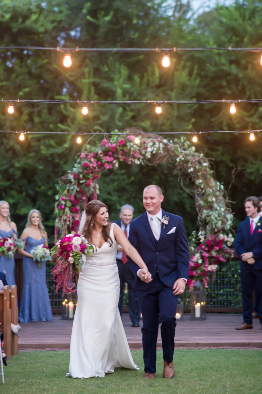 Romantic Red, Pink, and Lavender Mississippi Wedding via TheELD.com