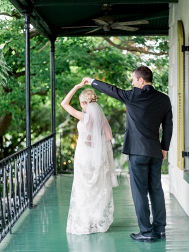 A Romantic Blush Key West Wedding via TheELD.com