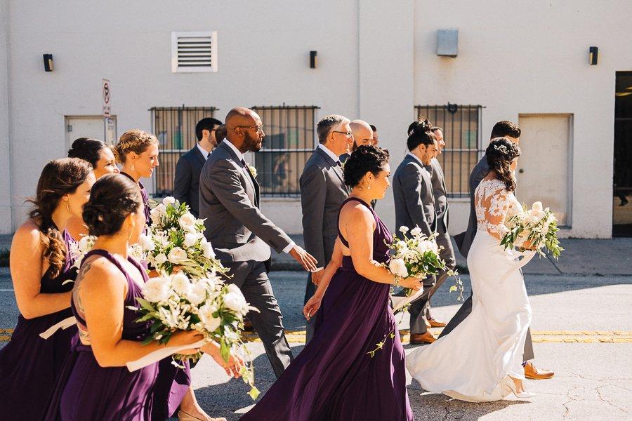 Plum and Ivory Industrial Tampa Wedding via TheELD.com