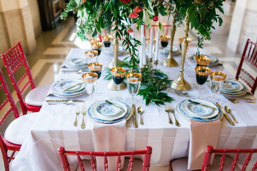 Elegant Pink and Red Wedding Ideas via TheELD.com