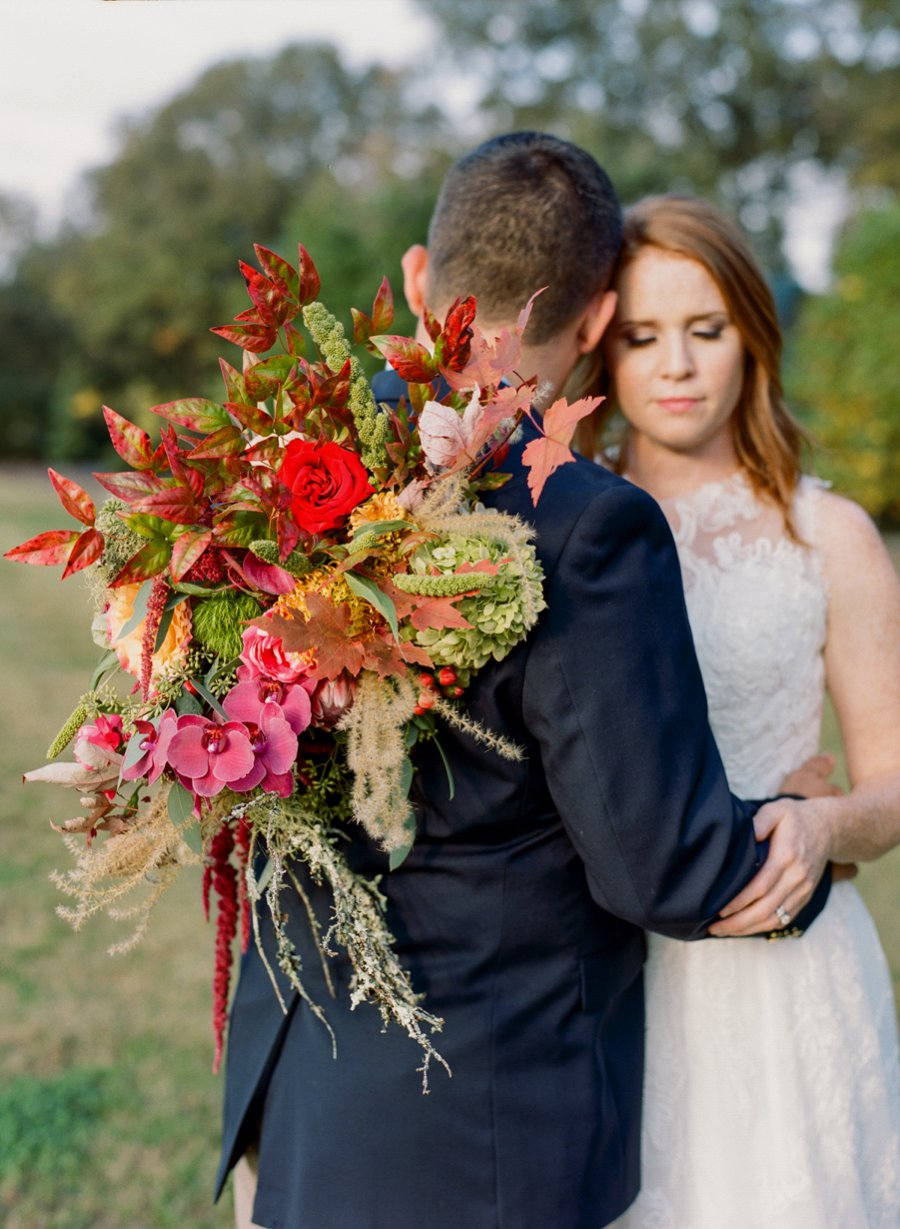 Eclectic Pink & Orange Fall Wedding Ideas via TheELD.com