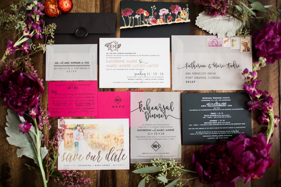 Jewel Toned Florida Garden Wedding via TheELD.com