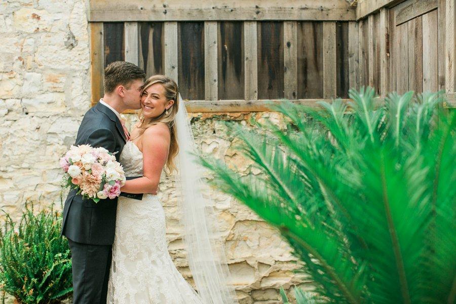 Romantic Blush & Green Big Sur Wedding via TheELD.com
