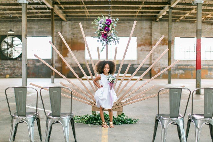 Lavender & Burgundy Love Inspired Industrial Wedding Ideas via TheELD.com