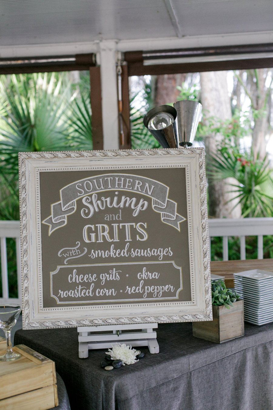 Lavender & Green Lakefront Central Florida Wedding via TheELD.com